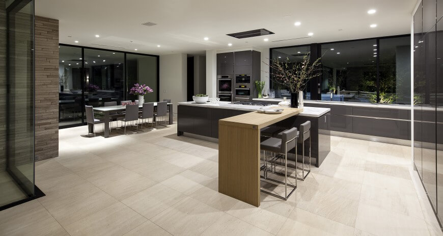Here s another minimalist  modern open space kitchen design  The  two segment island comprises. 35 Custom Kitchen Designs from Top Kitchen Designers Worldwide