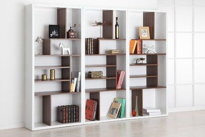 Arguably this isn't a 9-cube shelf; however, we chose to include it because the there are 9 larger cube sections, some of which are split up into additional sections.