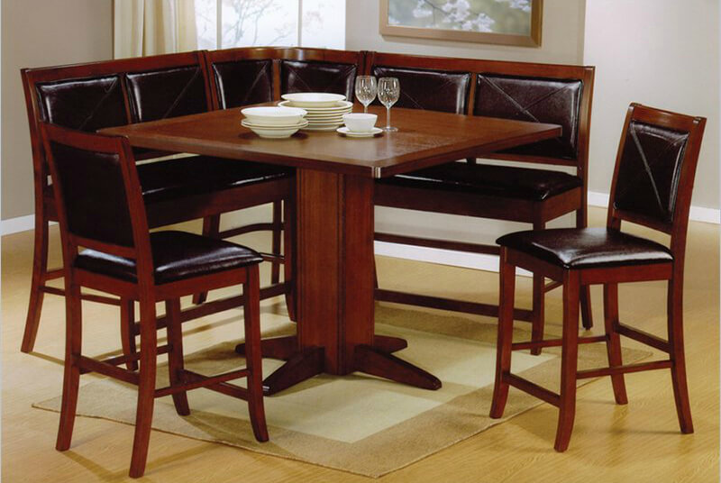 cushioned counter height breakfast nook its important to note that the table with this set is counter height which is a - Breakfast Nook Kitchen Table Sets