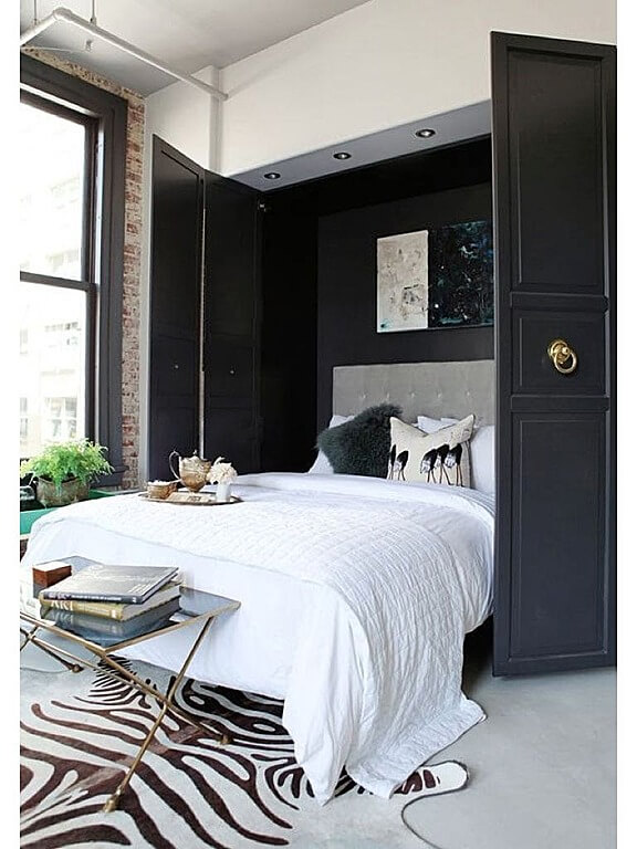 Nice Source: Zillow Digs Hereu0027s A Murphy Style Bed With Dark Grey Doors That  Blends Well With The Zebra Print