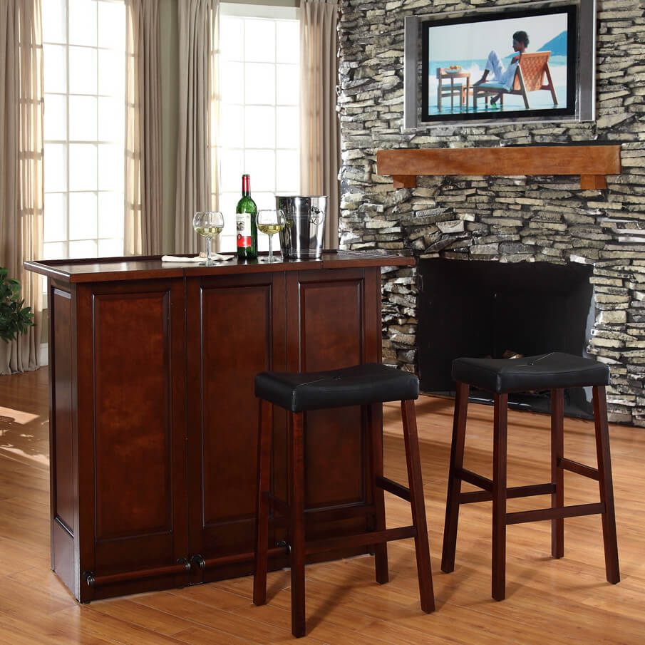Home Bar Furniture Ideas. I Like The Front Of This Mini Bar But When