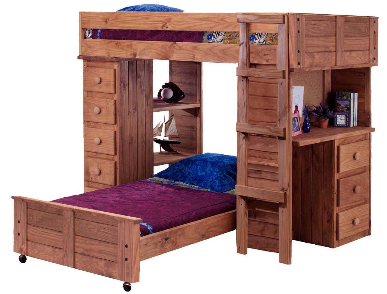 21 top wooden l shaped bunk beds with space saving features. Black Bedroom Furniture Sets. Home Design Ideas