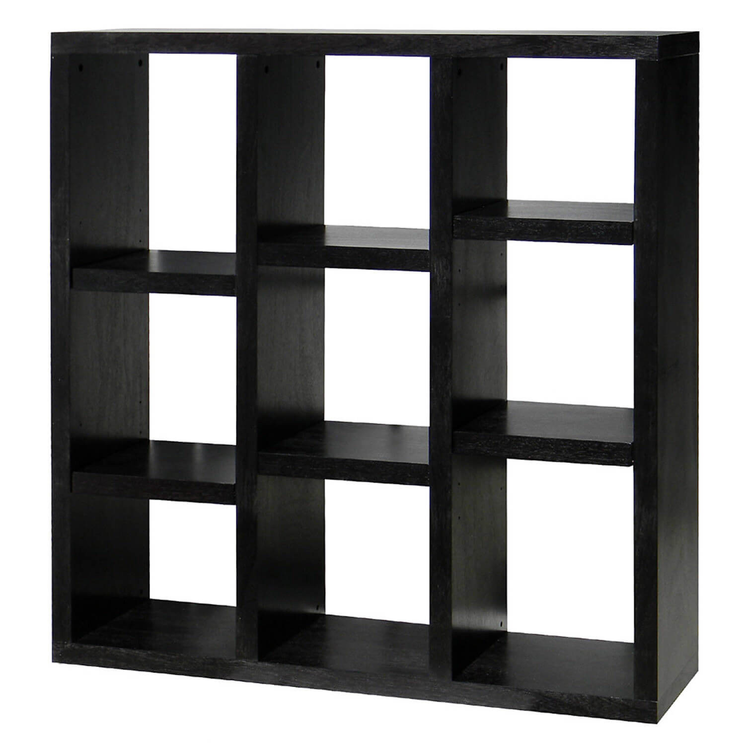 Hereu0027s An Interesting 9 Cube Shelf With A Staircase Style Pattern Achieved  With The Shelves