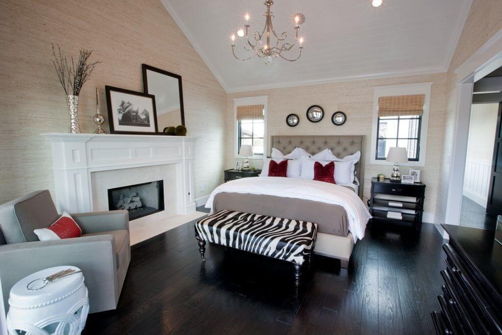 Hereu0027s a terrific contemporary bedroom dcor in