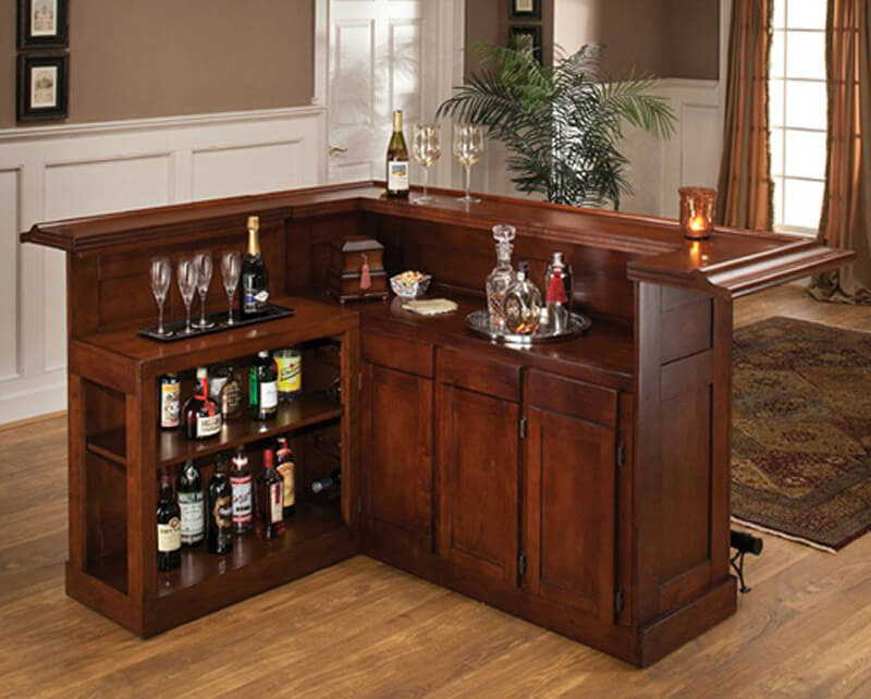 Beau This Cherry L Shaped Home Bar Is Fairly Large For A Bar Cabinet You Can