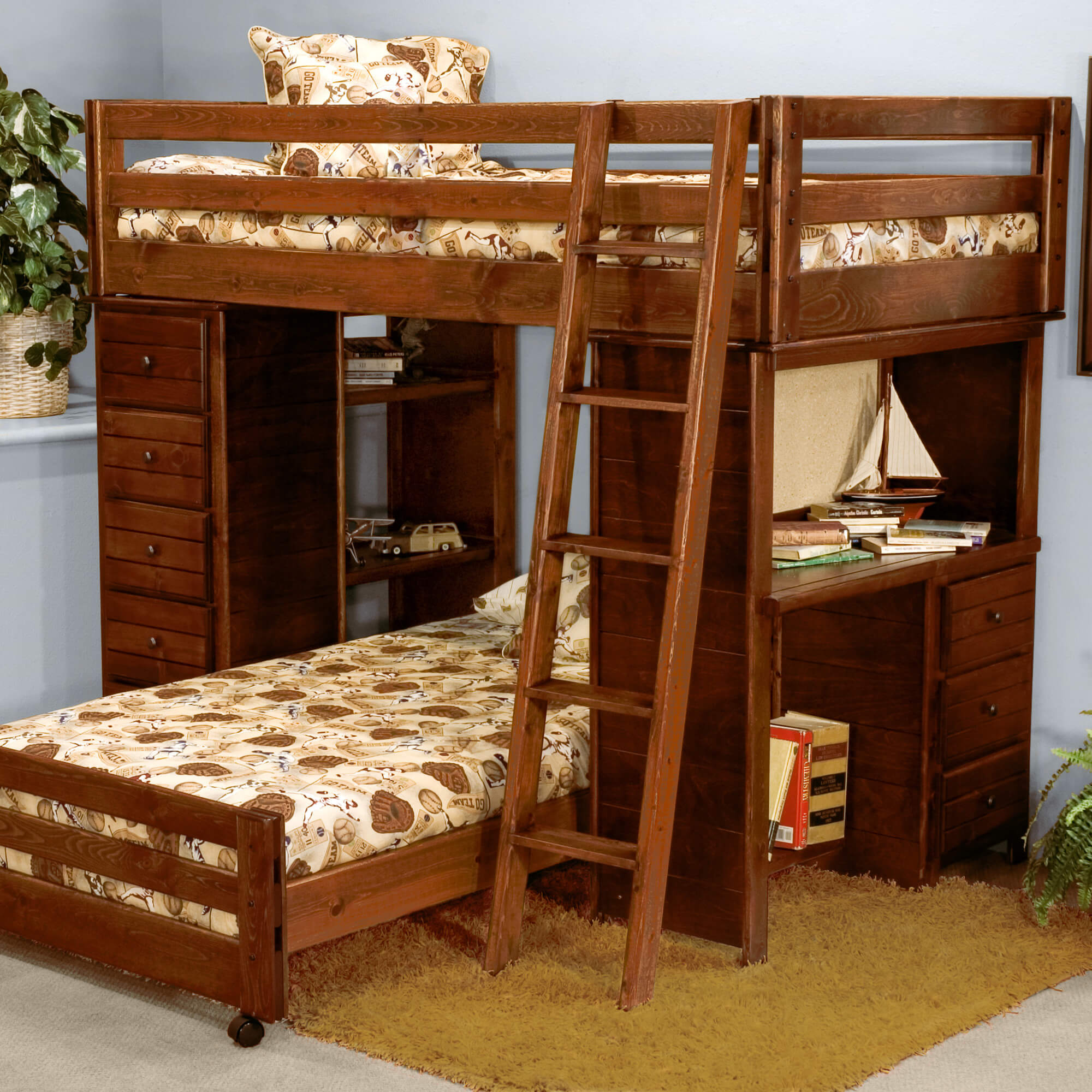 furniture childrens last beds loft collections the made to bed house low children s amish