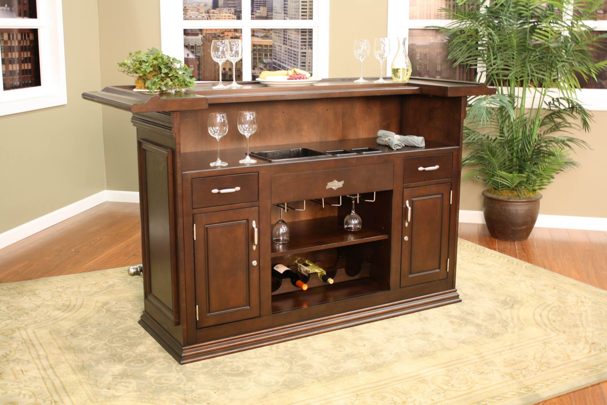 Superb Back End View   For A Smaller Design, This Home Bar Offers Some Great  Features