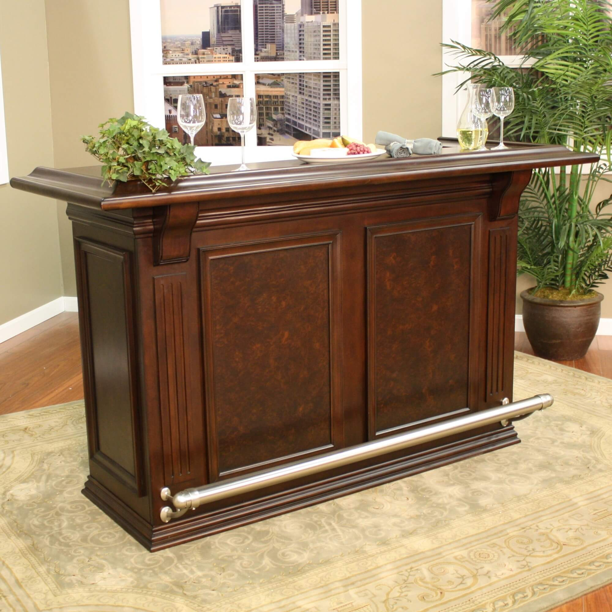 Traditional Style Home Bar For A Smaller Design, This Home Bar Offers Some  Great Features Such As A Foot