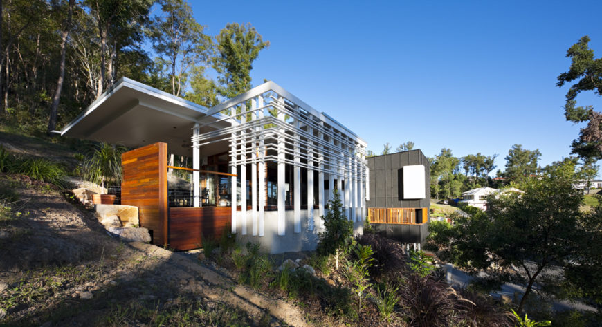 Beautiful modern home built with wood and steel by Base Architecture.