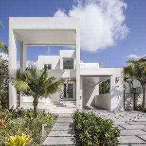 Royal Palm White Modern Home