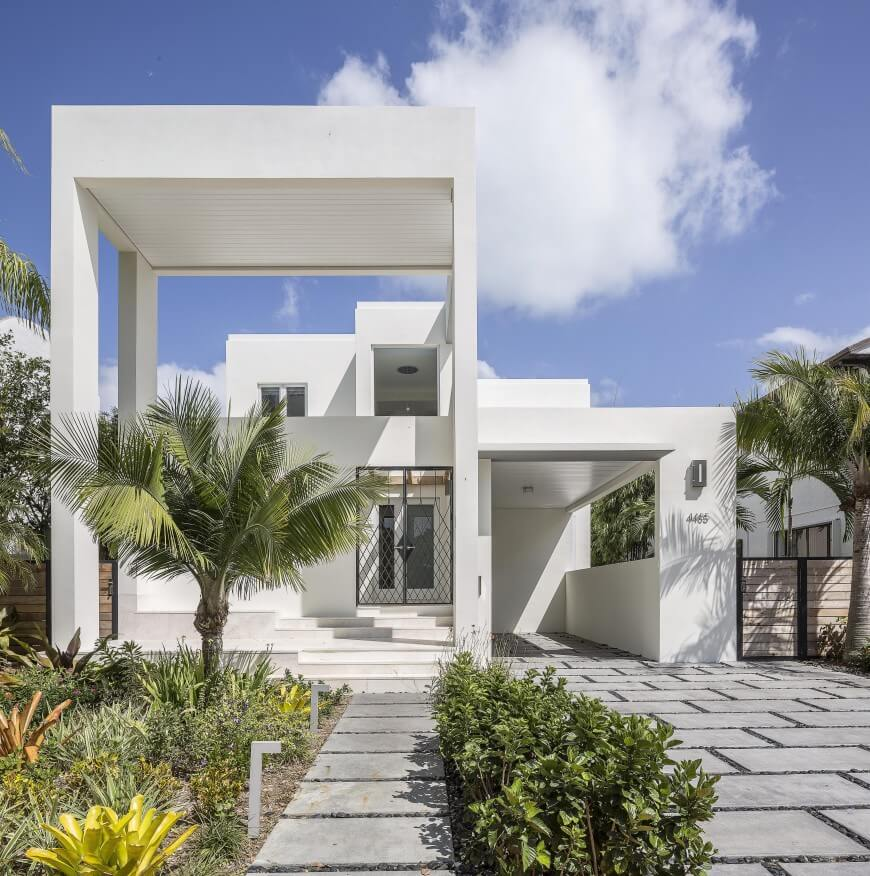 Royal Palm White Modern Home