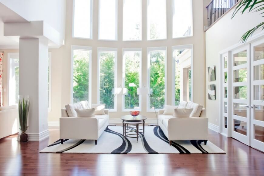 This Picture Nicely Depicts The Soaring 2 Story Windows That Flood This  Elegant And Bright