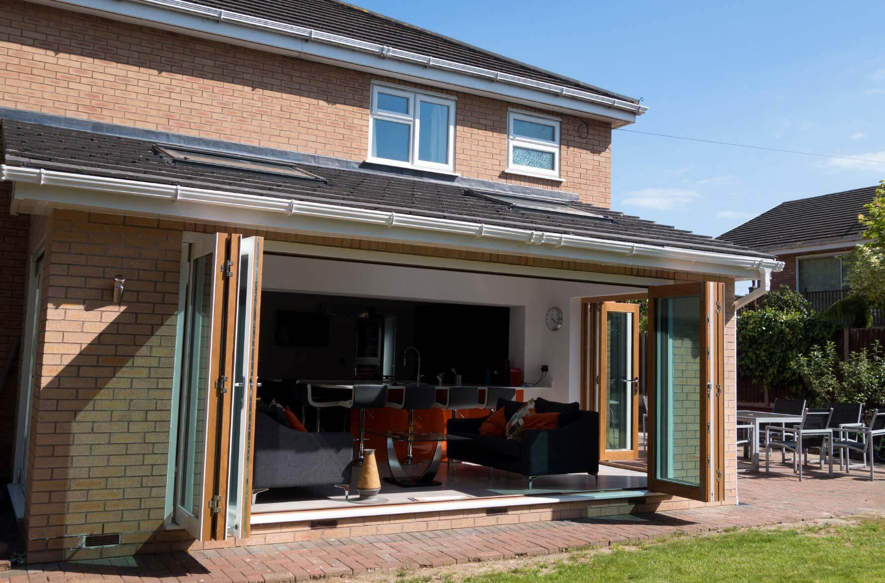 Bifold doors bring more light into the home