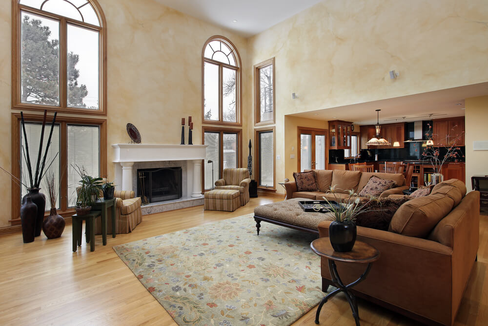 54 Living Rooms With Soaring 2 Story Cathedral Ceilings