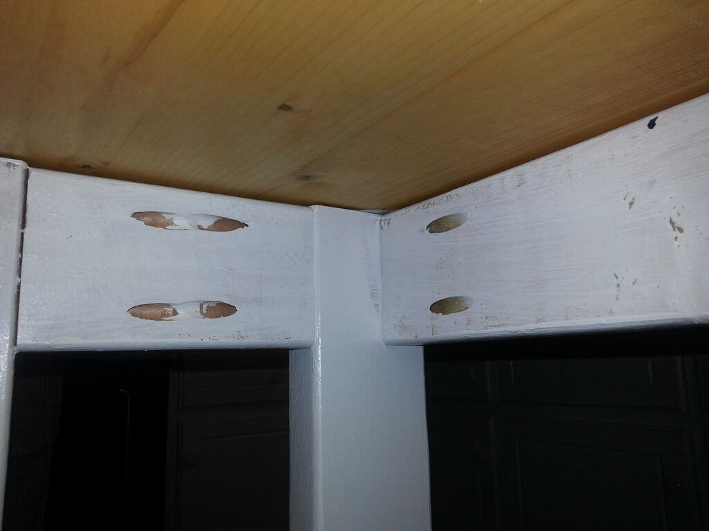 Underside of the DIY kitchen island