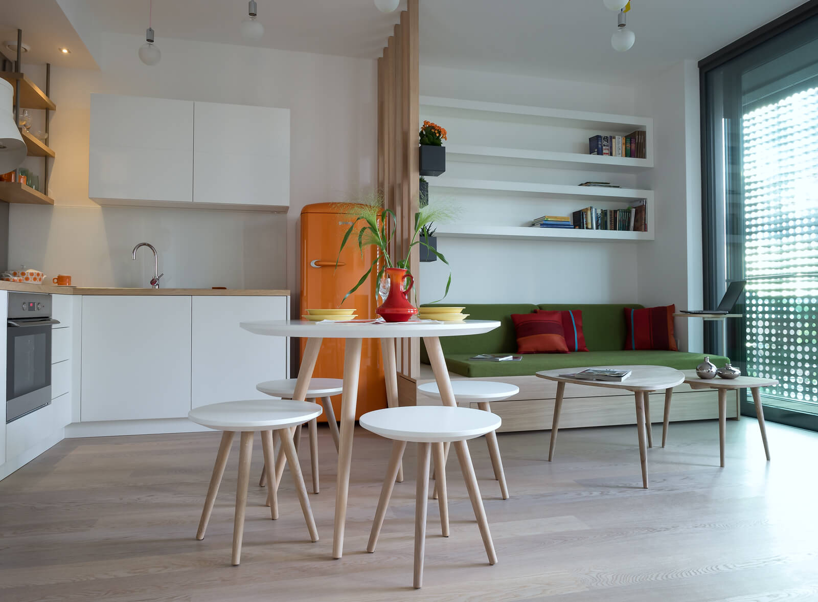 Gao Architects Creates Colorful Tiny 484 Sq.Ft. Apartment
