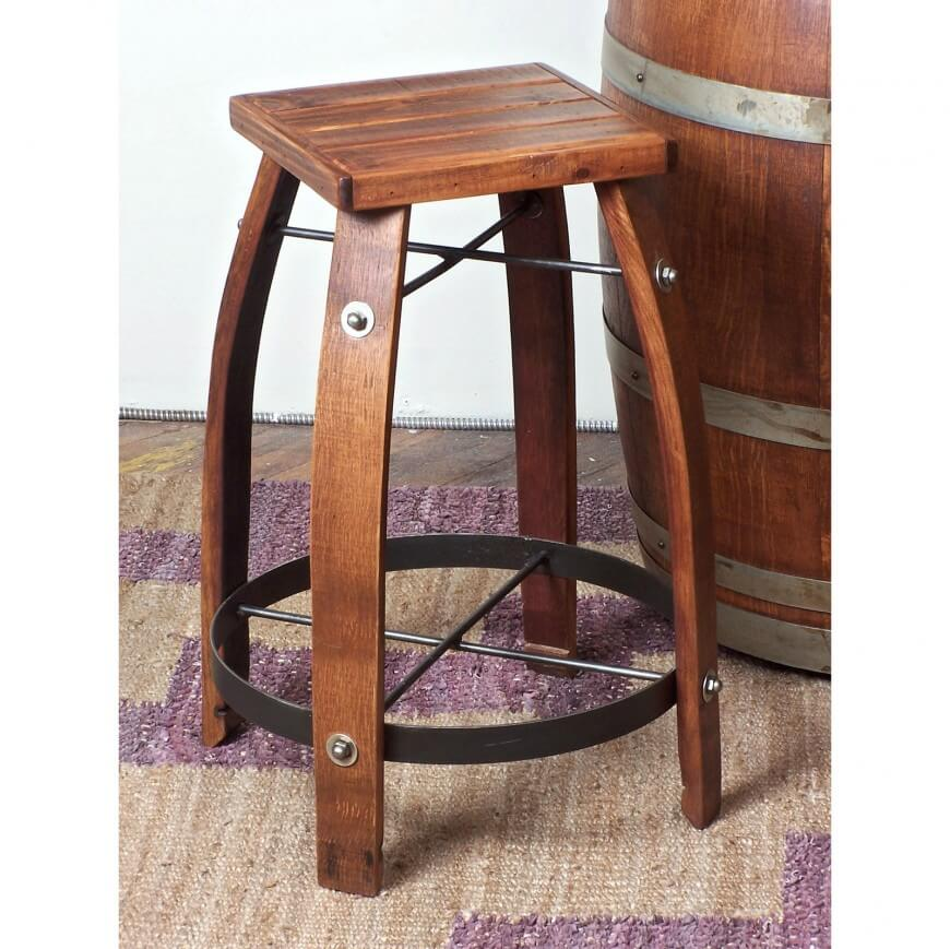 Wood stool designed in the barrel style with square seat.  sc 1 st  Home Stratosphere : wooden stool designs - islam-shia.org