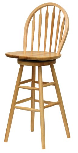 Oak swivel stool stool with Windsor back.