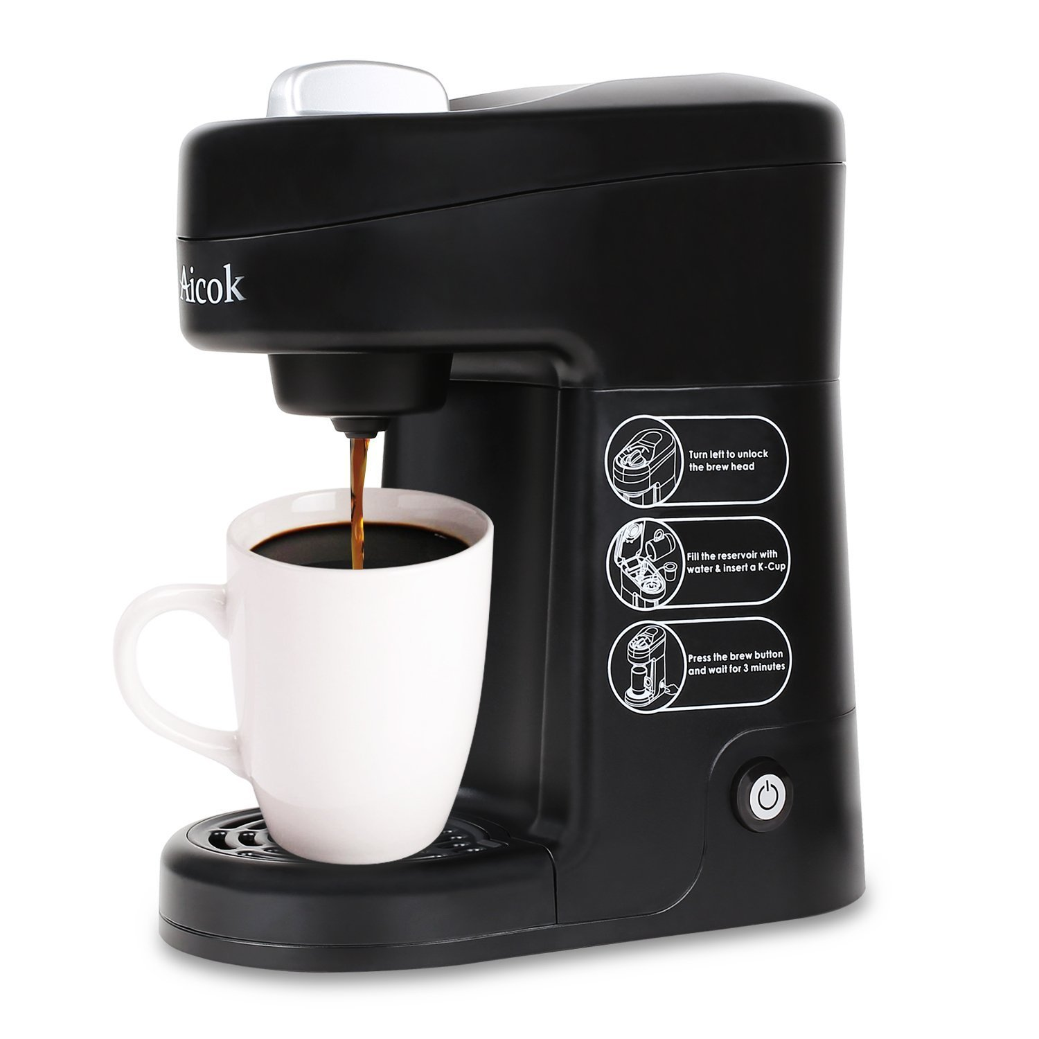 Aicok Travel-Size K-Cup Coffee Maker