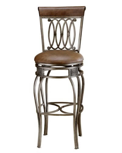 This ornate bar stool has a faux leather seat.  sc 1 st  Home Stratosphere & 52 Types of Counter u0026 Bar Stools (Buying Guide) islam-shia.org
