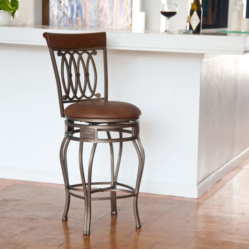 Bar Height Swivel Bar Stools With Backs