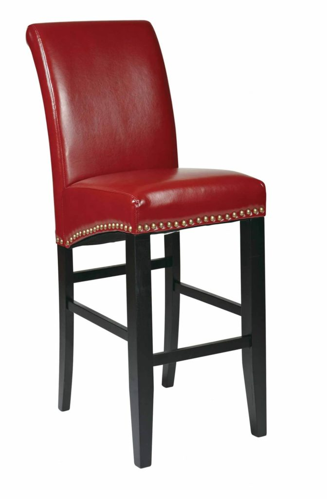 Red upholstered armless counter stool with red back.  sc 1 st  Home Stratosphere & 52 Types of Counter u0026 Bar Stools (Buying Guide) islam-shia.org