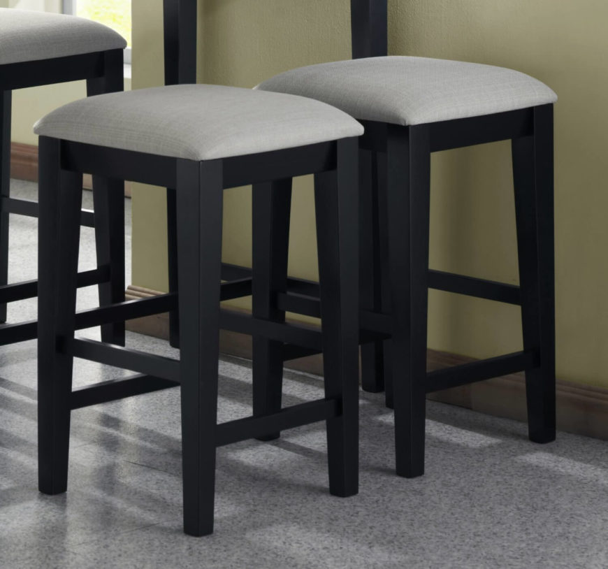 grey kitchen counter stools with wood legs