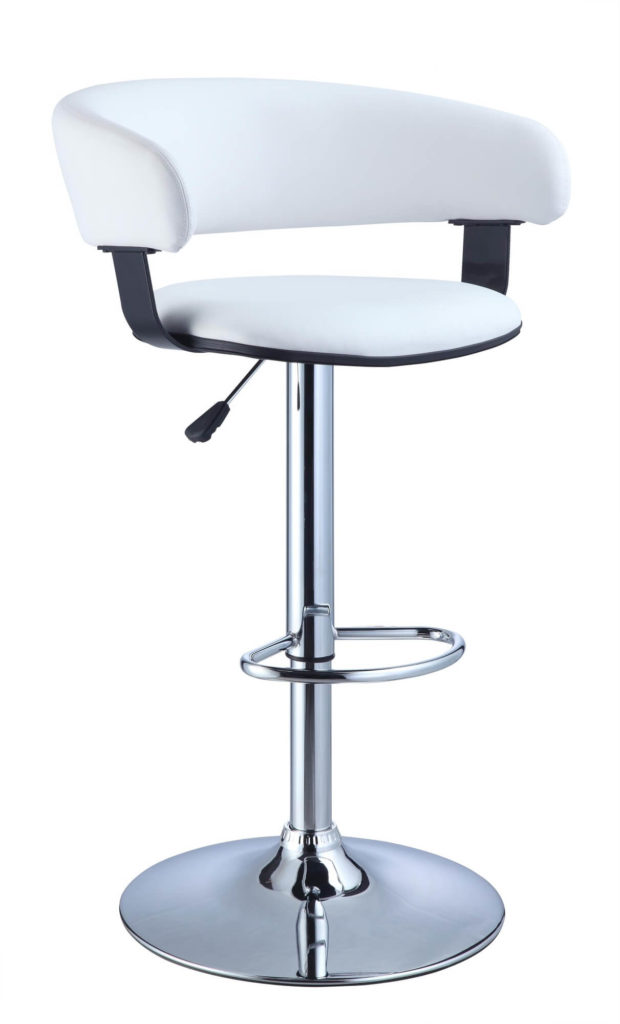 Powell Adjustable Stool with Low Back and Recessed Arms  sc 1 st  Home Stratosphere & 35 Stylish Modern Adjustable White Leather Bar Stools islam-shia.org