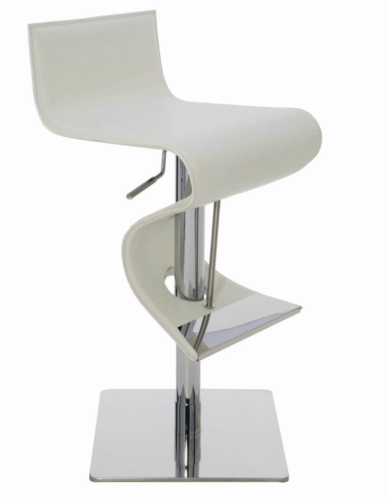 Black Leather Bar Stools.Lem Piston Style Chrome U0026