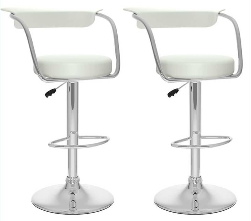Modern White Stool with Open Back  sc 1 st  Home Stratosphere & 35 Stylish Modern Adjustable White Leather Bar Stools islam-shia.org