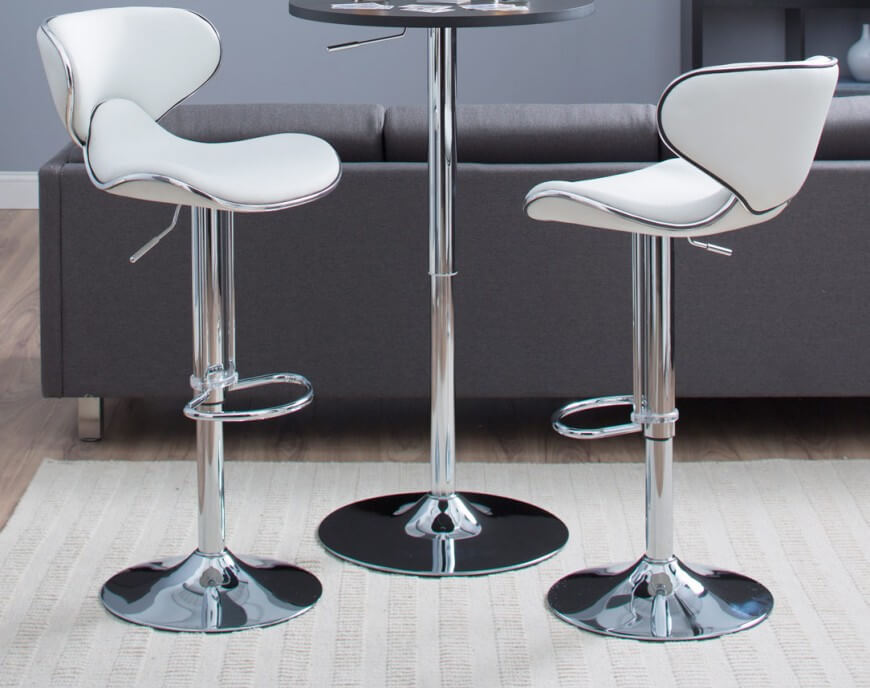 This elegant white modern stool offers a contoured bucket seat design sitting on a pedestal base . & 35 Stylish Modern Adjustable White Leather Bar Stools islam-shia.org