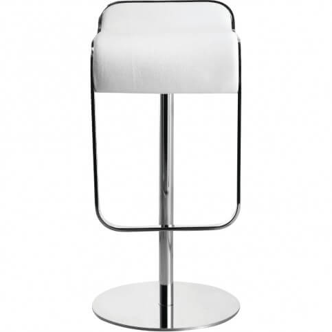 Sleek Minimalist White Modern Bar Stool