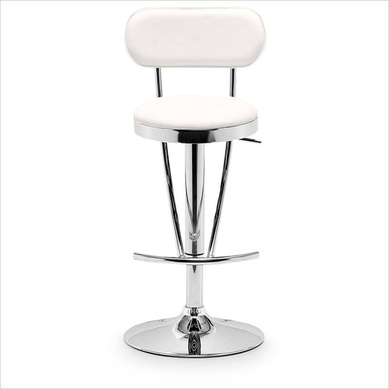 Elegant Modern White Adjustable Stool : bar chair with back - Cheerinfomania.Com
