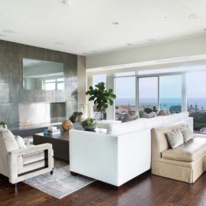 Beach Condo Living Room Design by SoCal Contractor
