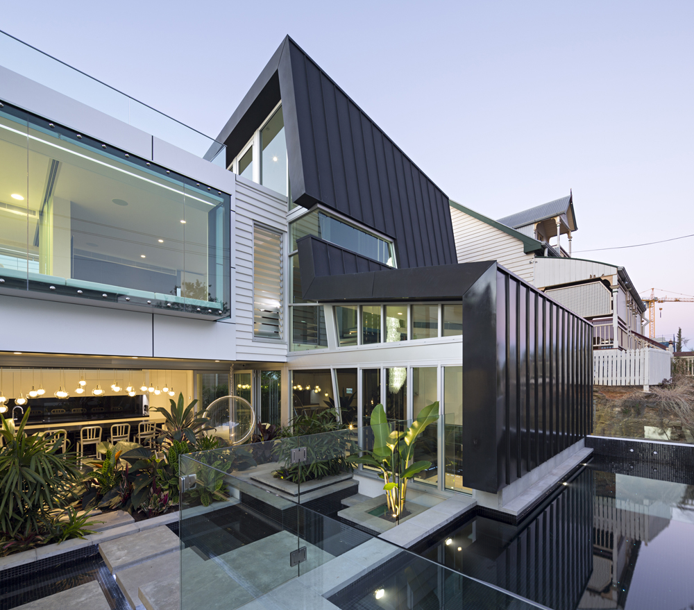 Backyard of the Light Street urban home by Base Architecture.