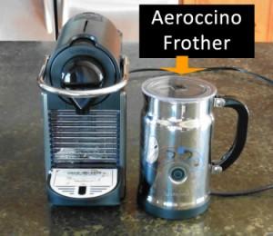 Nespresso Aeroccino Machine and Pixie Coffee Maker