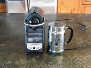 The Nespresso Pixie Espresso Coffee Maker and Aeroccino