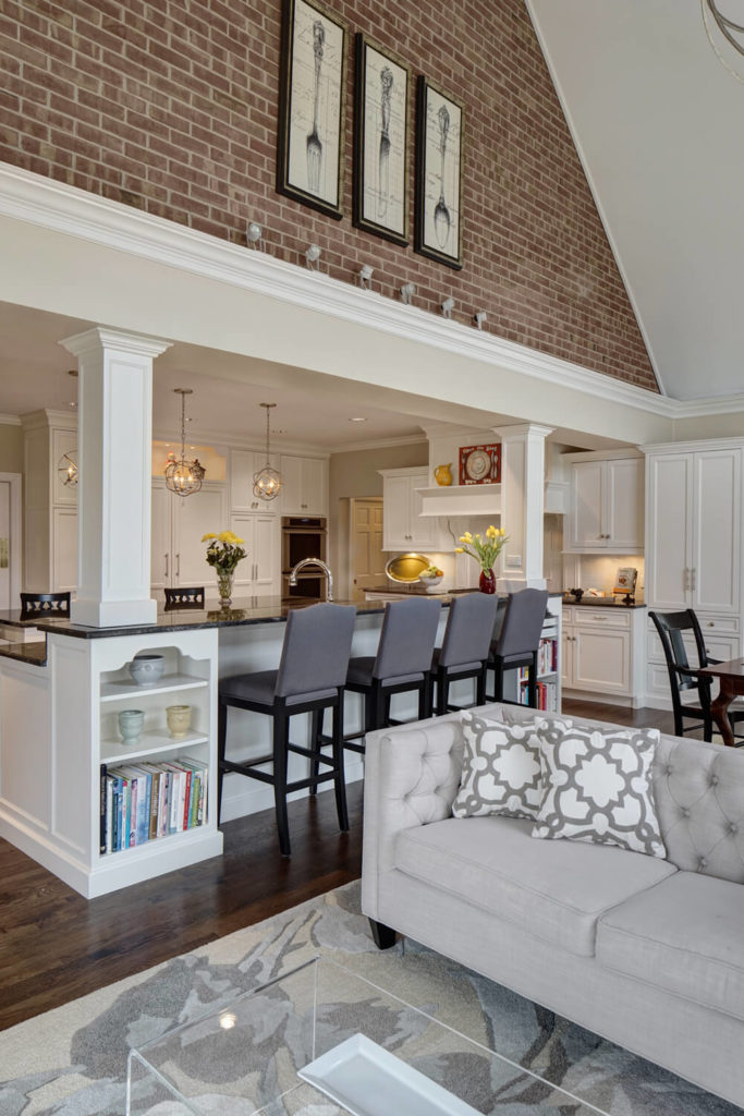 The Kitchen Expands Into The Open Family Room Space, Emerging Beneath An  Immense Vaulted Ceiling