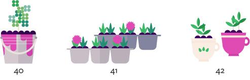 Small flower pots