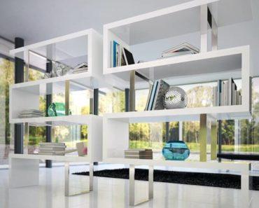 Featured white modern bookcase