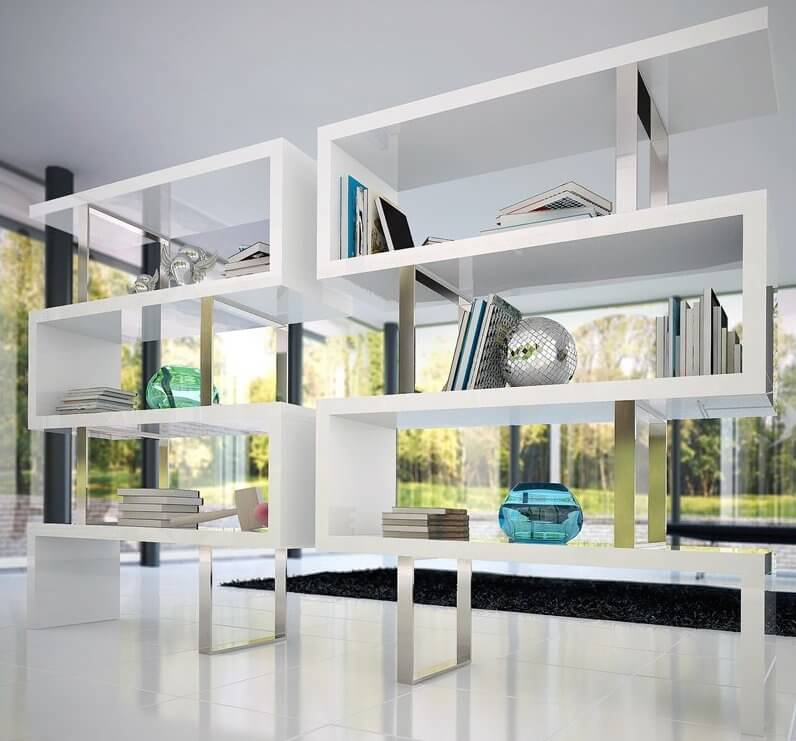 Featured white modern bookcase