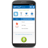 Mobile phone video system by ADT Home Security App