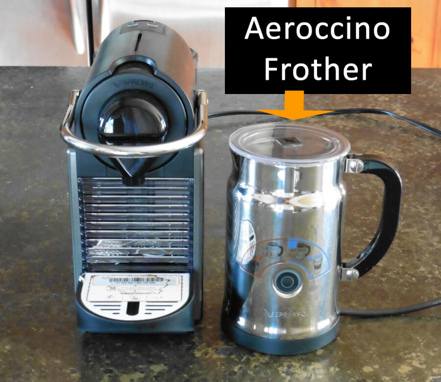 Nespresso Aeroccino Machine and Pixie Coffee Maker