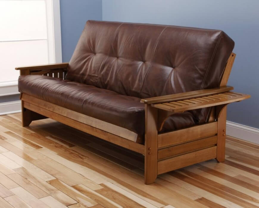 the most  mon futon frame is one in which the futon mattress is folded in half 12 different types of futons  detailed futon buying guide   rh   homestratosphere