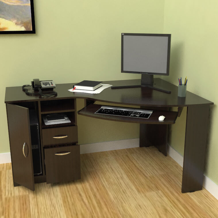 Corner Desks Can Be A Convenient Solution To Space Problems In Their  Compact Iteration, Or