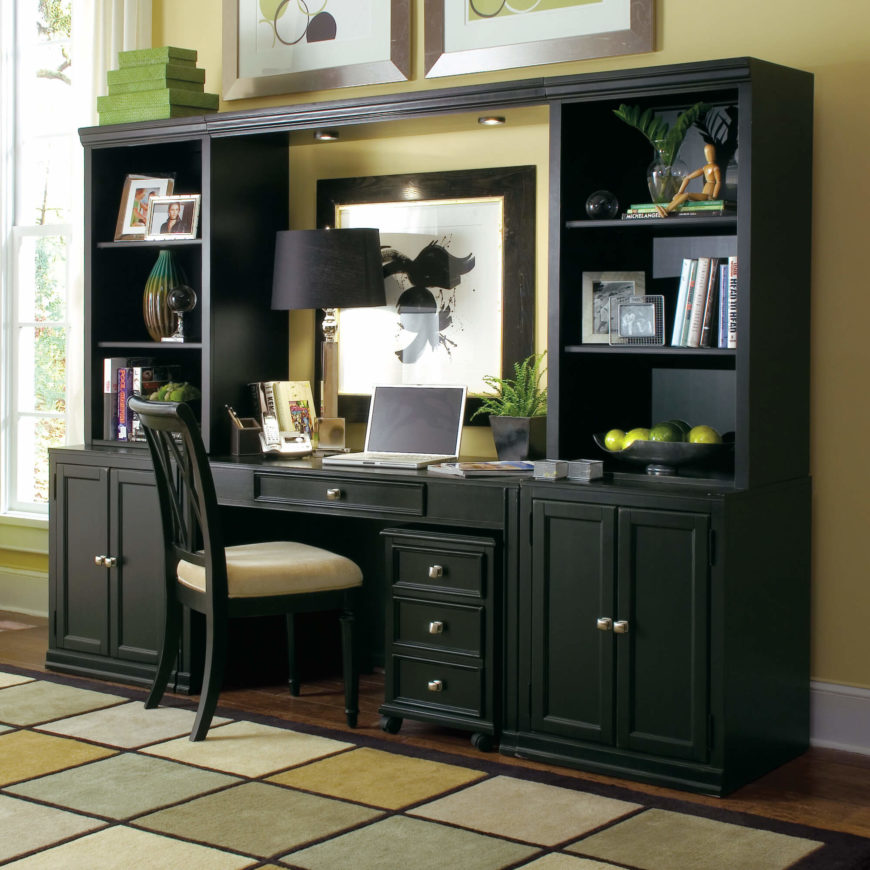 type of furniture design. Credenza Desks, As The Name Implies, Combine A Desk With Cupboard-packed Type Of Furniture Design