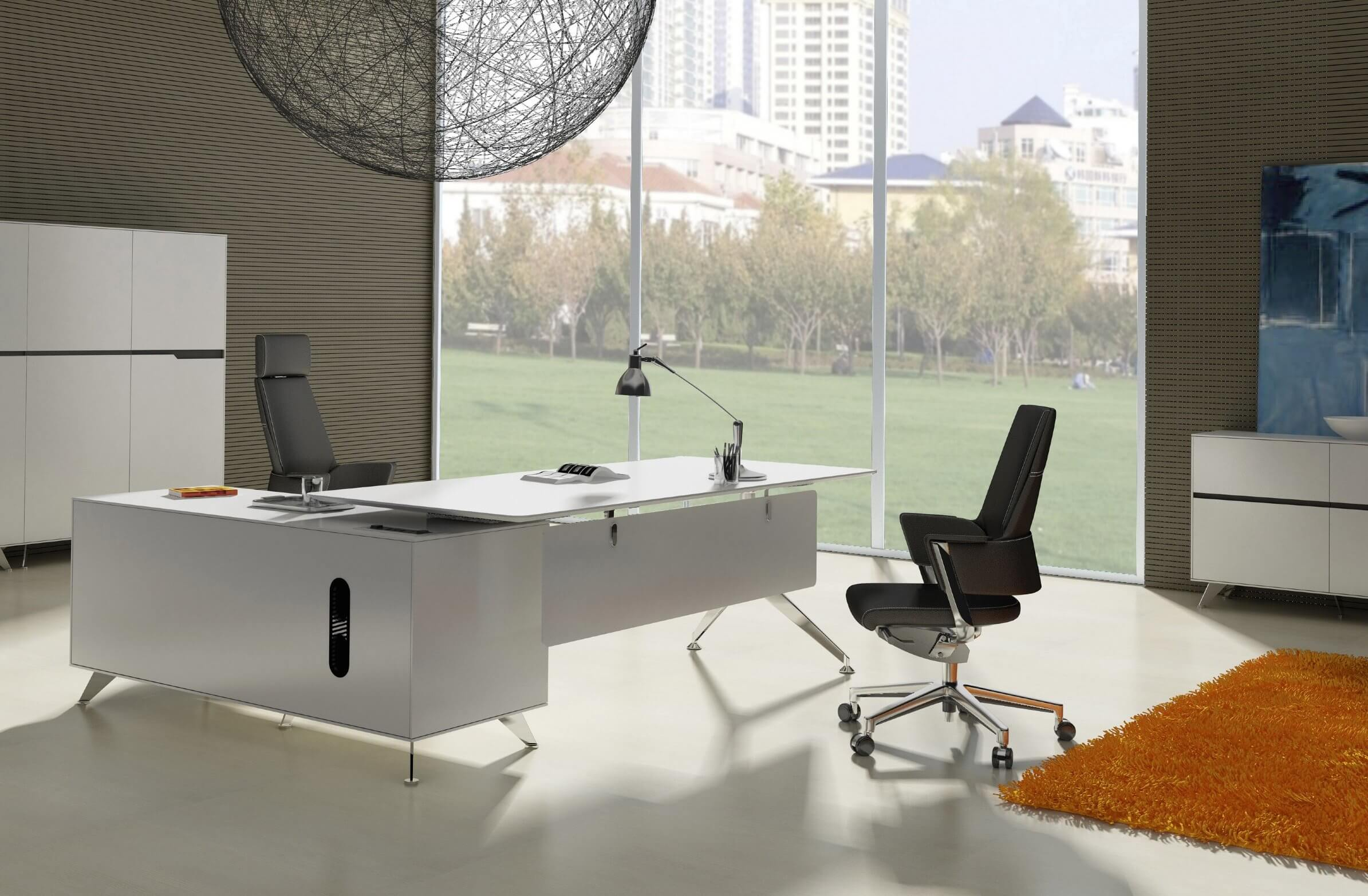 Merveilleux Modern L Shaped White Desk