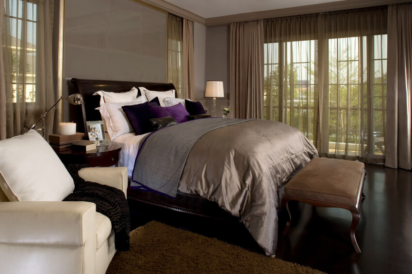 38 gorgeous master bedrooms with hardwood floors Royal purple master bedroom
