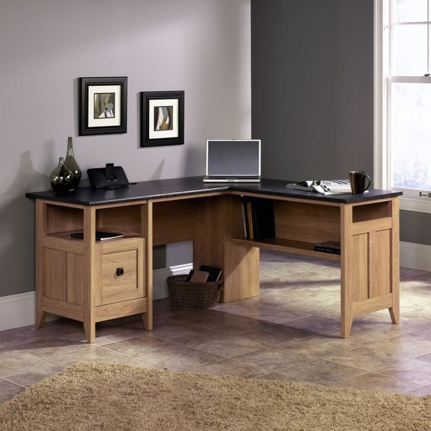 Laminate surfaces overlay a protective material on top of the wood construction. This coating is usually plastic of some sort, meant to keep the desk stain and warping resistant. These are not the most luxurious desktops, but they provide practicality, versatility, and peace of mind.