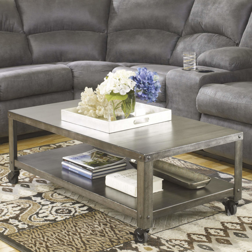Metal Table Tops Often Accompany Industrial Styled Designs, But Can Also  Appear Alongside An Array